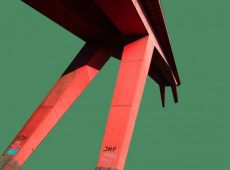 Pont Rouge, 1-16, grün mit Schrift